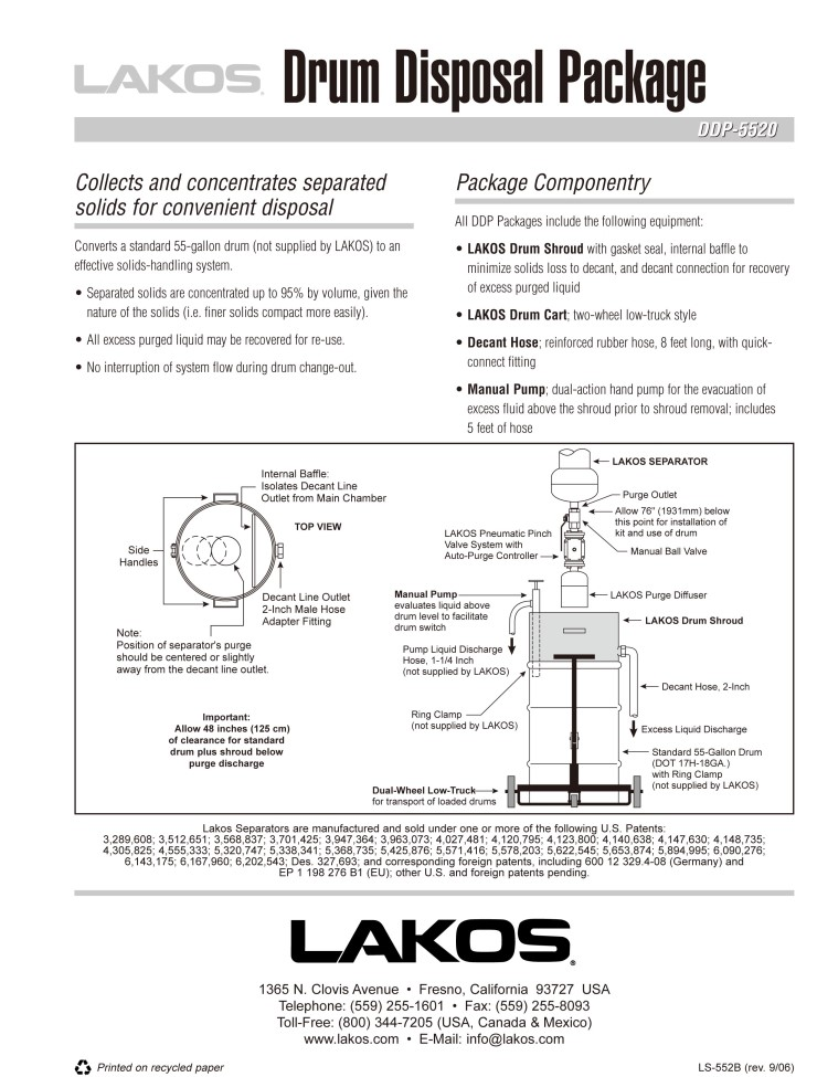 LS-552_Drum-Disposal-Package
